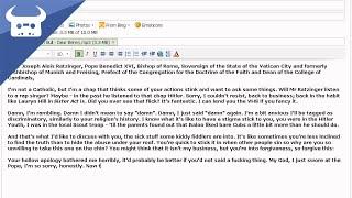 Dan Bull - Dear Benny [an open letter to the Pope]
