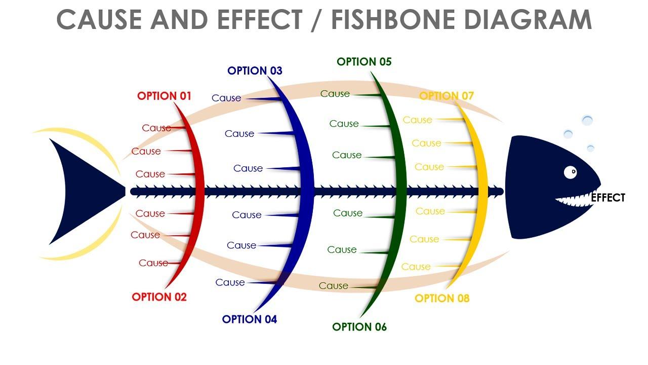 Fishbone Diagram Slide In Powerpoint Youtube