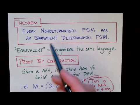 Lecture 7/65: Equivalence of Deterministic and Nondeterministic FSMs