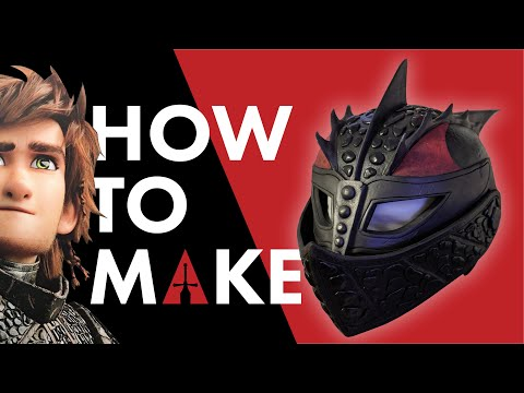 How To Make Hiccup Dragon Scale Helmet From HTTYD3