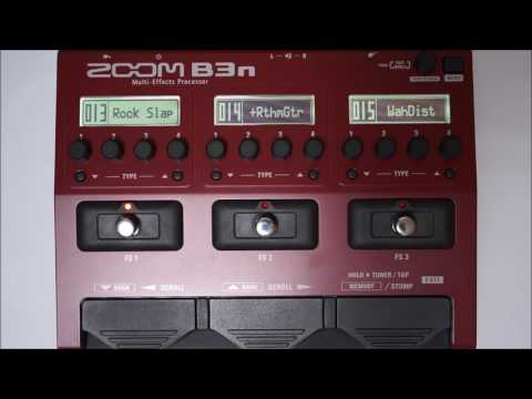 ZOOM B3N B3next Multi-Effects Processor for Bass PATCH 010-018