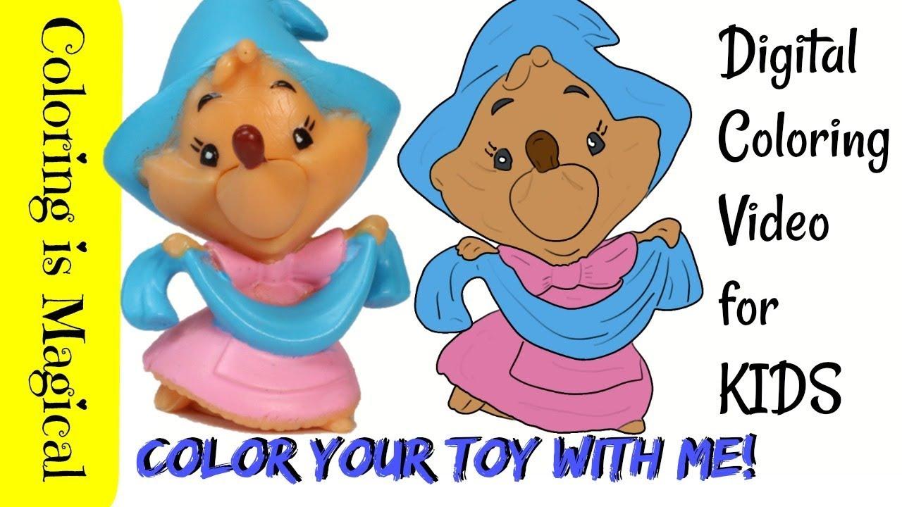 Cinderella Dress Mice Coloring Page | Cinderella coloring pages ... | 720x1280