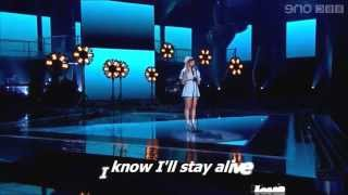 Leah McFall - I Will Survive (LYRICS) - The Voice UK Performance