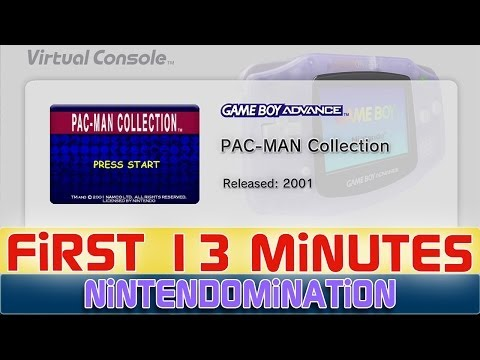 WiiU VC GBA - PAC-MAN Collection - First 13 Minutes