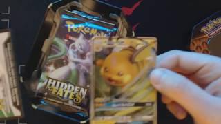 Hidden Fates Opening Raichu GX Tin 1 Pokemon TCG