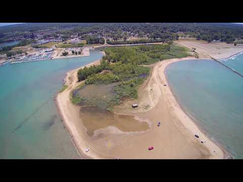 Conneaut Ohio Beach And Harbor - Yuneec Typhoon Drone Video