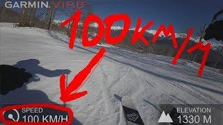 ВАЛИМ 100 км/ч на ГОРНЫХ ЛЫЖАХ по трассе BMW РОЗА ХУТОР. Фрирайд на слаломной трассе.