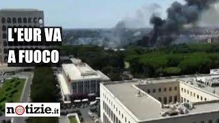 Roma, incendio all'Eur: divampano le fiamme al centro revisioni | Notizie.it