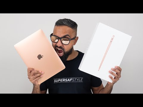NEW MacBook Air 2018 Gold Unboxing