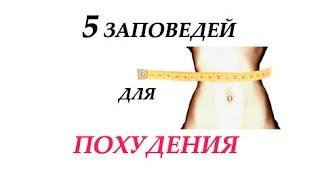 5 правил для похудения