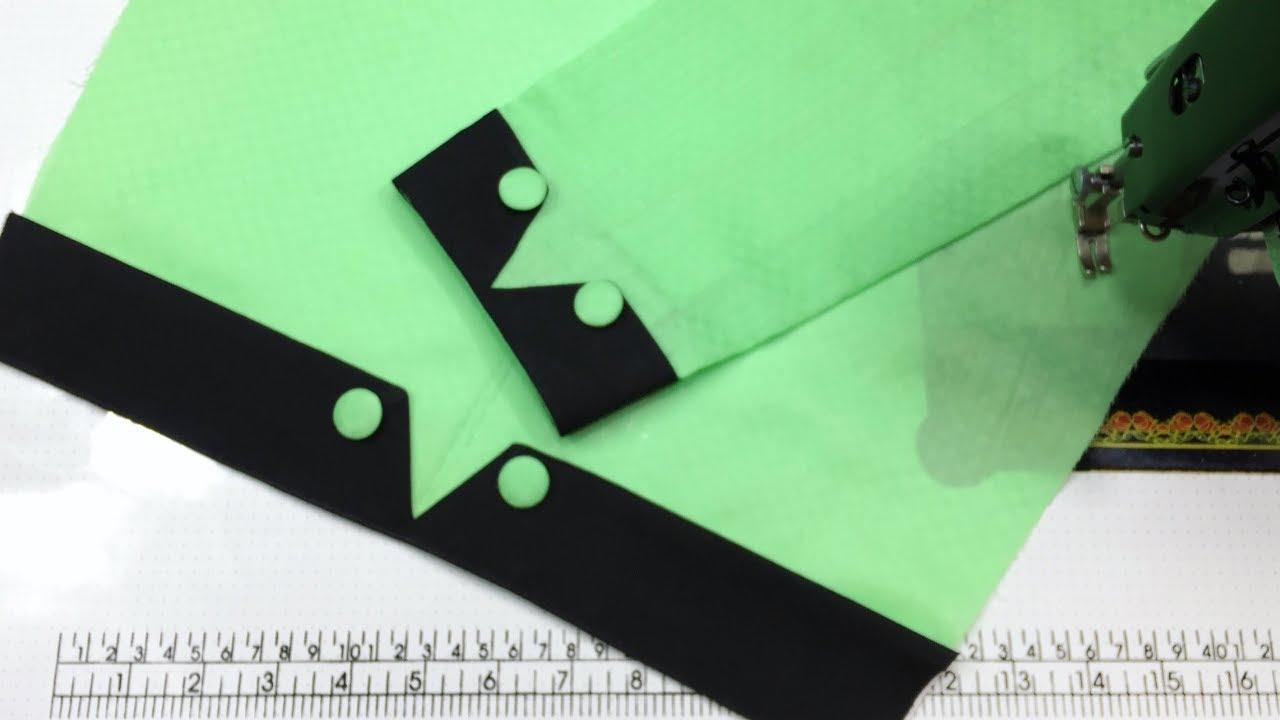 Latest Cuff Sleeves Design Cutting & Stitching || Sewing Tutorial