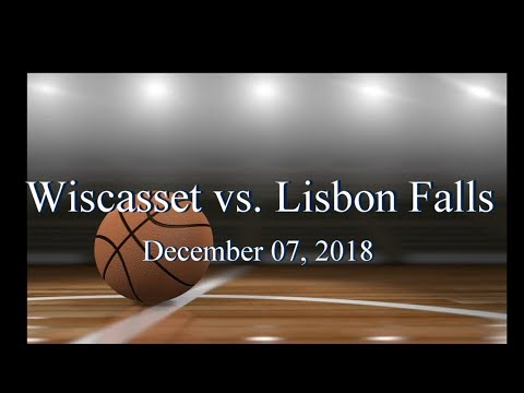 2018 Wiscasset Christian Basketball vs Lisbon Falls