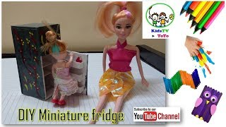 DIY Miniature Fridge - How to Make Mini Refrigerator for kids | Kidstv toto