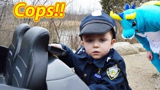 WHO'S THAT! Crazy Dragon vs Funny Kids Cops Officer Ryan with silly boys funny comedy video epic