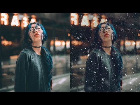 Photoshop Tutorial: How To Create Realistic SNOW!!