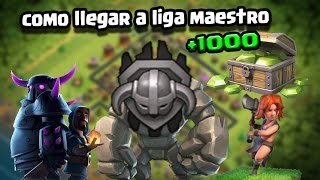 Como subir a liga maestro Clash of Clans 1000 gemas gratis