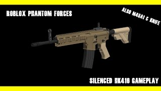 """""""A Very Tough Game"""" HK416 w/M45A1 + Default Knife Gameplay [Roblox Phantom Forces]"""