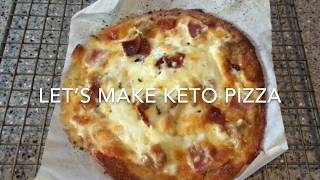 Keto Individual Frozen Pizza Recipe Demo