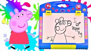 Peppa Pig Table Top Easel Chalkboard Coloring Drawing Peppa Pig Muddy Puddles Toys By Dctc