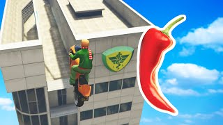 EXTREMELY HOT CHILI CHALLENGE BIKE RACE (GTA 5 Funny Moments)