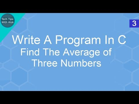 Write A Program In C Find The Average of Three Numbers