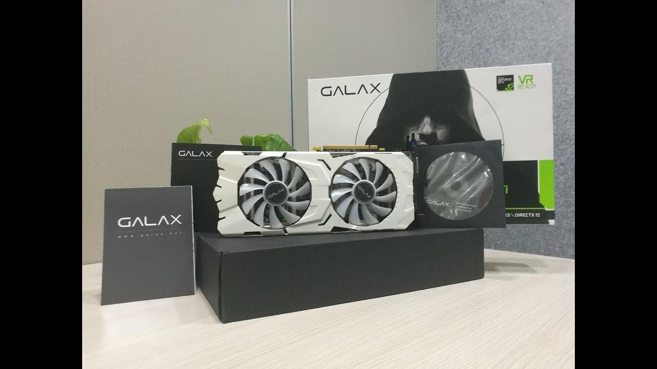Mở hộp đánh giá sản phẩm/ GALAX 1070 Ti EX SINPER White
