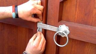 How To Fit A Ring Gate Latch To A Wooden Gate