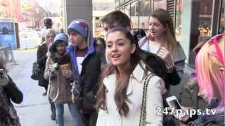 jai brooks and ariana grande jariana go out for lunch with friends in nyc 01 08 13