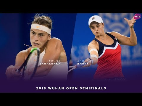 Aryna Sabalenka vs. Ashleigh Barty | 2018 Wuhan Open Semifinal | WTA Highlights 武汉网球公开赛