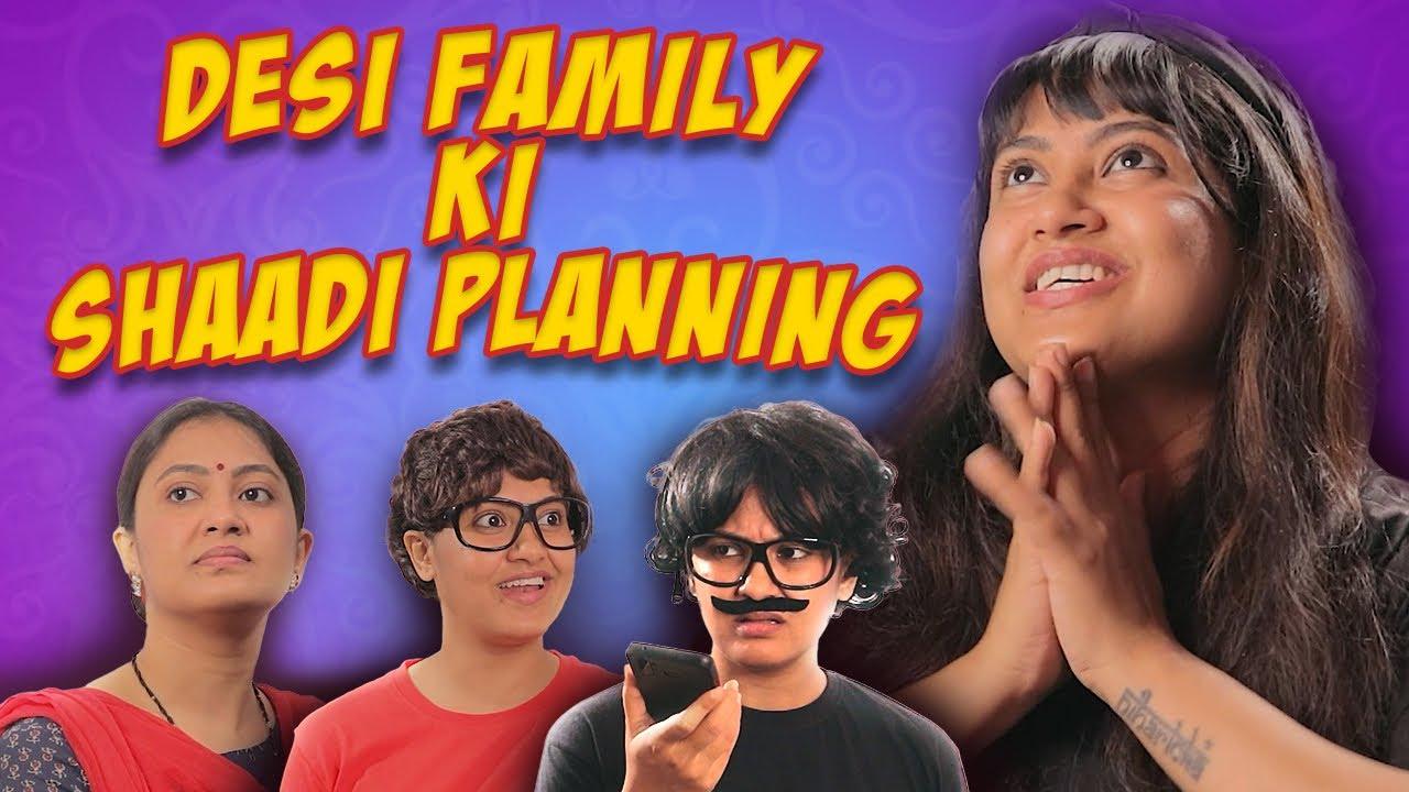 Desi Family Ki Shaadi Planning || Captain Nick