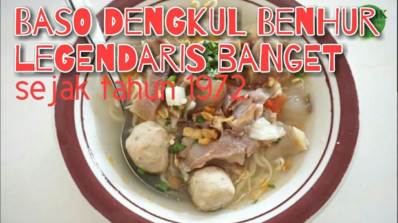 Legendaris banget - Berdiri sejak 1972   Baso dengkul Benhur   48 tahun yang tetap eksis