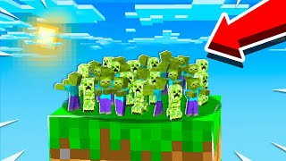 MOB FARM ON ONE MINECRAFT BLOCK! (EP 7)