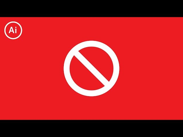 How to Draw the No Symbol | Illustrator CC Tutorial