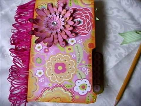 file folder notebook holder for a friend youtube On how to make handmade file covers