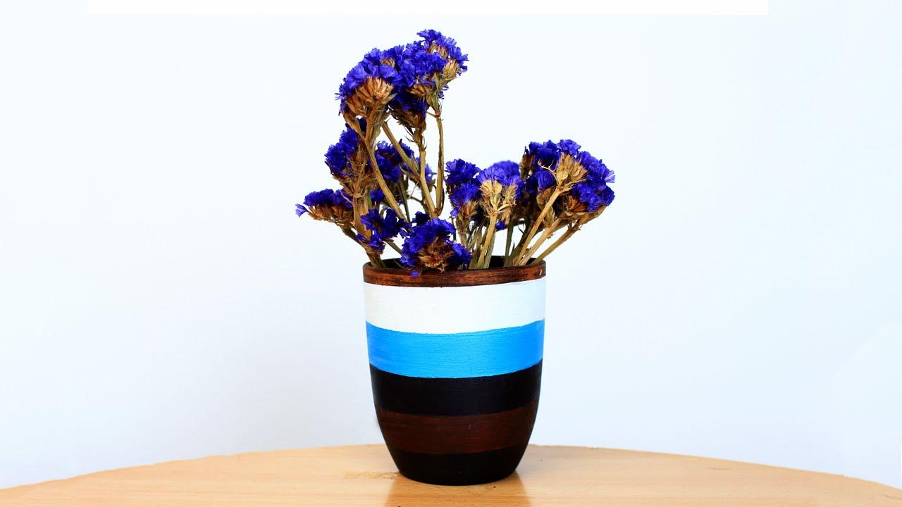 diy acrylic vase painting youtube - Vase Painting