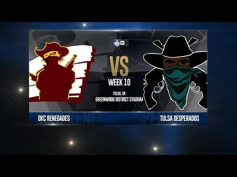 W18 Season, Week 10 - Oklahoma City @ Tulsa