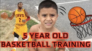5 YEAR OLD'S FIRST EVER BASKETBALL TRAINING SESSION