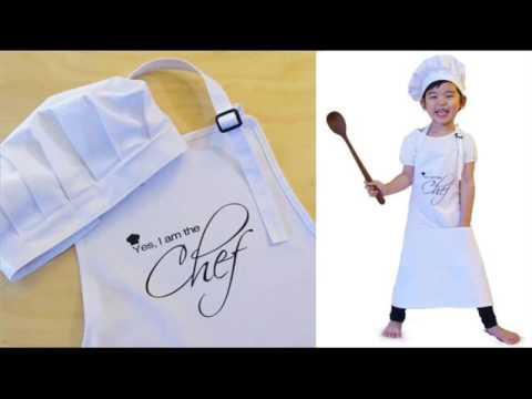 Kids Chef Hat Apron Set Youtube