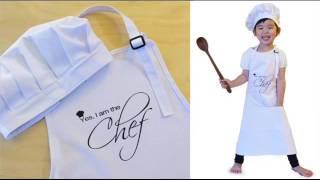 Kids Chef Hat Apron Set