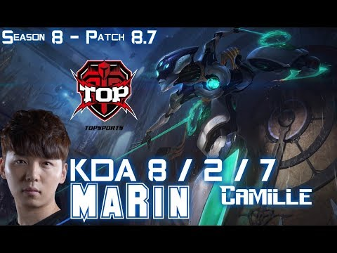 TOP MaRin CAMILLE vs RIVEN Top - Patch 8.7 KR Ranked