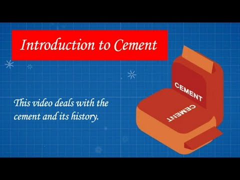 Introduction to Cement // History of Cement // Discovery of Cement // Portland Cement