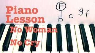 No Woman No Cry ★ Piano Lesson ★ SUPER EASY ★ Bob Marley