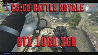 CS:GO BATTLE ROYALE BENCHMARK | GTX 1060 3GB + I5-7400 | ULTRA - 1920x1080