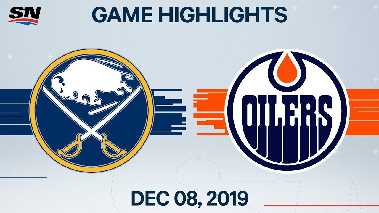 NHL Highlights | Sabres vs. Oilers – Dec. 08, 2019