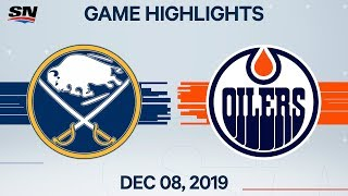 NHL Highlights | Sabres vs. Oilers - Dec. 08, 2019