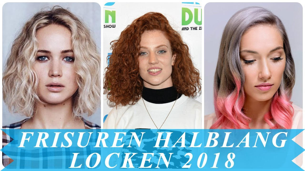 Frisurentrends Damen Locken Halblang 2018