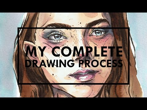 My Complete Process | Watercolour Illustration