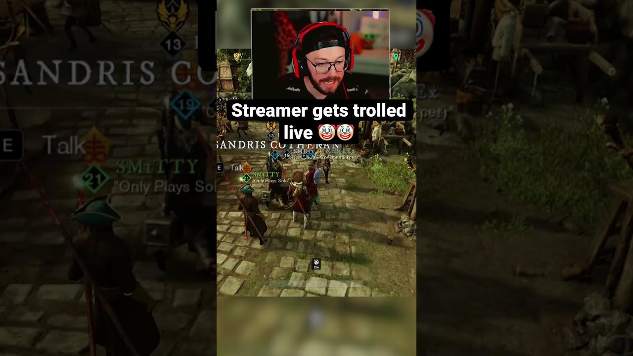Streamer gets trolled live (New World)