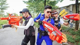 LTT Nerf War : SEAL X Warriors Nerf Guns Fight Attack Criminal Group Captain Mercenary