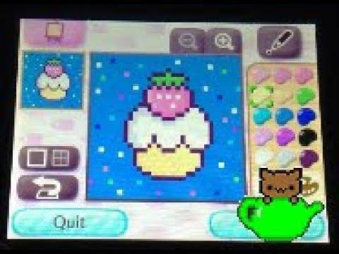 Cute Strawberry CupCake QR ~ Animal Crossing New Leaf QR ~